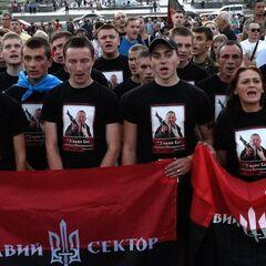 Участники Народного вече Правого сектора в Киеве.