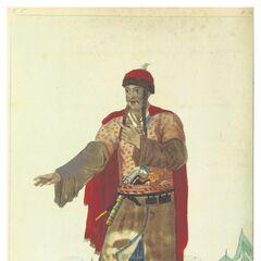 Гувернадур Черногории, 1820 г. Акварель из