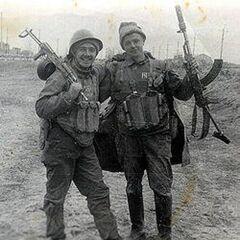 Советские десантники с АКМС.