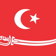 Педенг песанан с хулу ме апэт на флаге султаната Ачех.