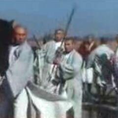 Монахи сражались не только пешком, но также выступали в качестве кавалерии.