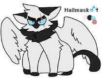 Hailmask with wings