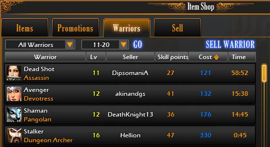 Warriorshopexample