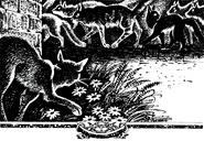Листвяная Звезда следит за ночным патрулём Остроглаза и Хлыста — из русскоязычного издания Судьбы Небесного племени