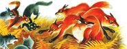Битва с лисами Битвы племён