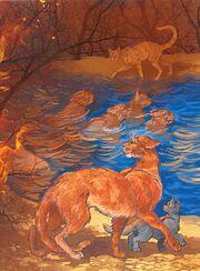 Грозовое племя спасается от пожара, Бушующая стихия золото