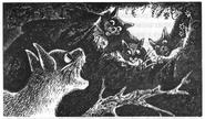 Ледосветик, Голубка, Львиносвет и Долголап Знамение Луны