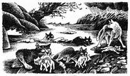 Репейничек Колючник Стрижонок Ветерок Верескоглазка и Троица Тёмная река