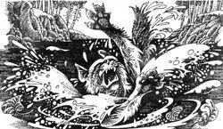 Смерть Белолапого Огонь и лёд