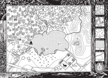 Карта Озёрной территории