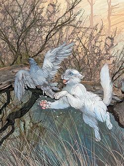 Белыш ловит голубя Бушующая стихия