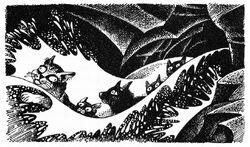 Оруженосцы выплывают из туннелей Тёмная река