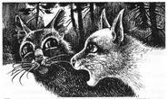 Синегривка разговаривает с Белогривкой Пророчество Синей Звезды Выбор