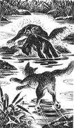 Зыбкая Река спасает Молнехвостого Первая битва