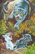 Синичка и Снежинка хозяйничают в пещере Гусохвоста, Пророчество Синей Звезды золото