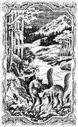 Огнегрив наблюдает за Крутобоком и Серебрянкой Огонь и лёд