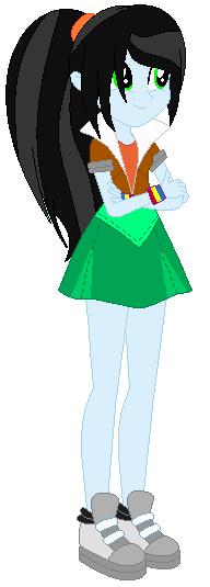 Equestria girls party dress rainbow dash base by selenaede-d9ds7lp