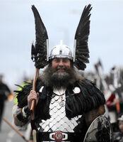 Ярл в шлеме с крыльями