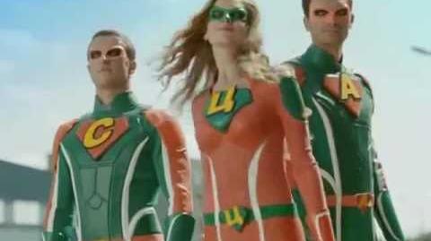 Супергерои Comfy в видео рекламе