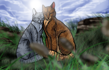 Crookedstar and willowbreeze by hoverpelt-d5bgvf8