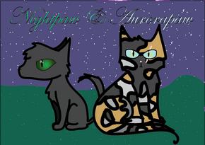 Nightpaw and Aurorapaw~ -by Jetfeather