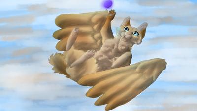 A flying dog