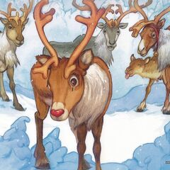 All of the other reindeer, used to laugh and call him names!