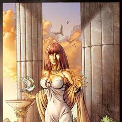 Queen Aurelia in her palace...