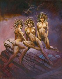 Medusa Stheno Euryale Gorgon Sisters-1-