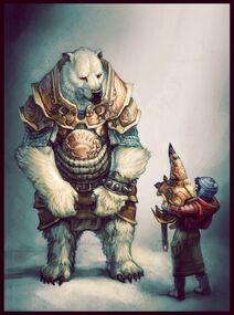 640x923 3376 Iorek 2d fantasy bear warrior picture image digital art-1-