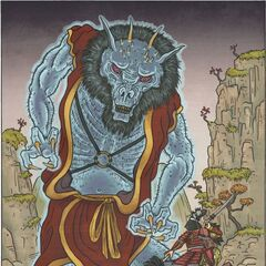 Not just any Oni; a GHOST Oni! Beware, the mighty Reiki!