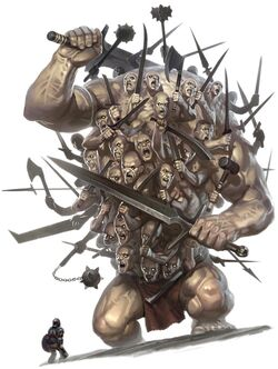 PZO1120-Titan Hecatonchires Hecatoncheir Hecatonchire Hekatonkheires Hekatonkheir Centemani Hundred Handed Greek Mythology Myth Monster-1-