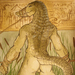 Ancient Egyptians wrongfully arrest this Werecrocodile for mocking the god Sobek...