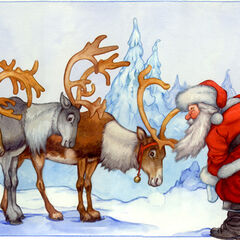 Rudolph the Red-Nosed Reindeer, had a very shiny nose!<br />And if you ever saw it, you would even say it glows!