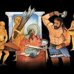 The Kourai Khryseai, Hephaestus' Golden Maidens...