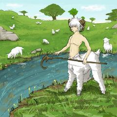 A Criocentaur guarding his flock of sheep...