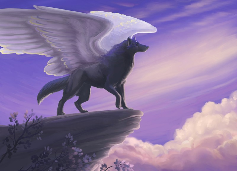 White Werewolf With Wings
