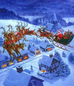 Santa-Claus-and-Flying-Reindeer-1-