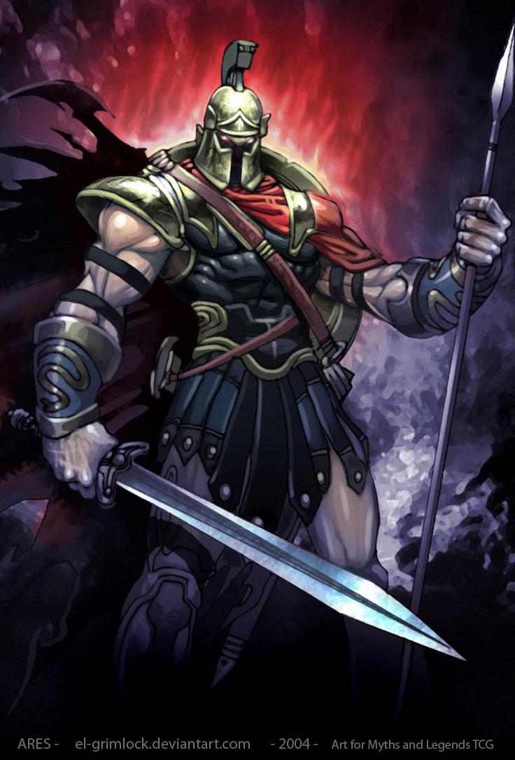 Image Ares Mars Greek God Art 03 By El Grimlockg Warriors Of