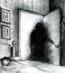 Shadow Creature Being Sceadugenga Hat Man