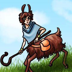 Lambda the llama centaur seeks out his brethren...