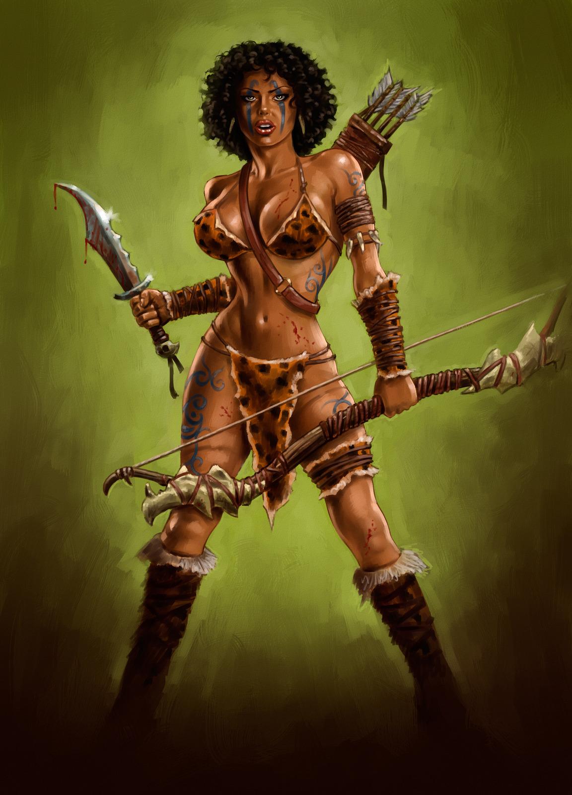 Sexy girl warrior