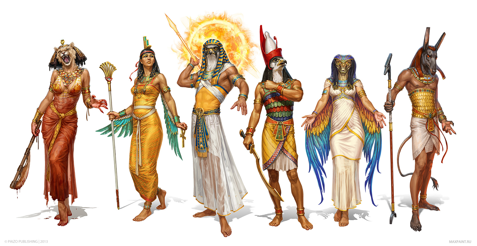 image - egyptian gods by katemaxpaint-d8ra9sm | warriors of myth