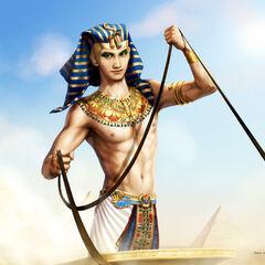 Not just <i>descended</i> from gods, but <i>himself</i> divine...?