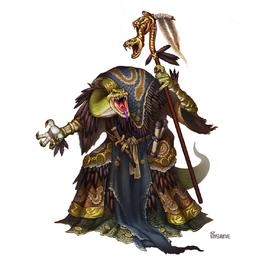 Serpentfolk priest of ydersius by gimaldinov-d3dafrn