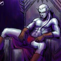King Saras was born of a Djinn father, and a Drow mother...