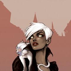 Vampire Celessa and her vampiric monkey familiar, Pascal...