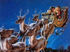 Santa Claus Sleigh Reindeer Flying2-1-
