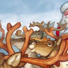 Then all the reindeer loved him;<br />as they shouted out with glee...