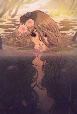 640x946 13171 Orial 2d fantasy water pretty fairy pond nymph lake picture image digital art